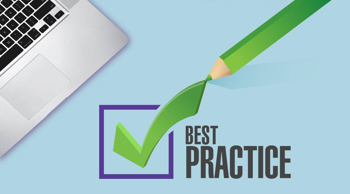 Positive check mark beside best practice